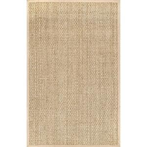 Hesse Checker Weave Seagrass Natural 2 ft. x 3 ft. Indoor Area Rug