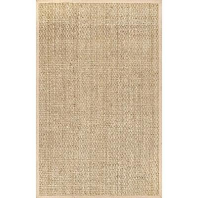 Hesse Checker Weave Seagrass Natural 6 ft. x 9 ft. Indoor Area Rug