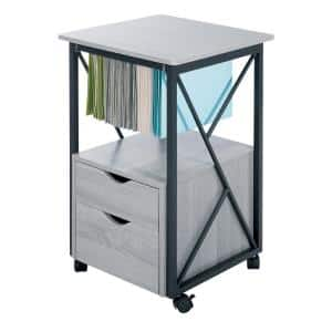 Mood Gray File Cabinet with Wheels