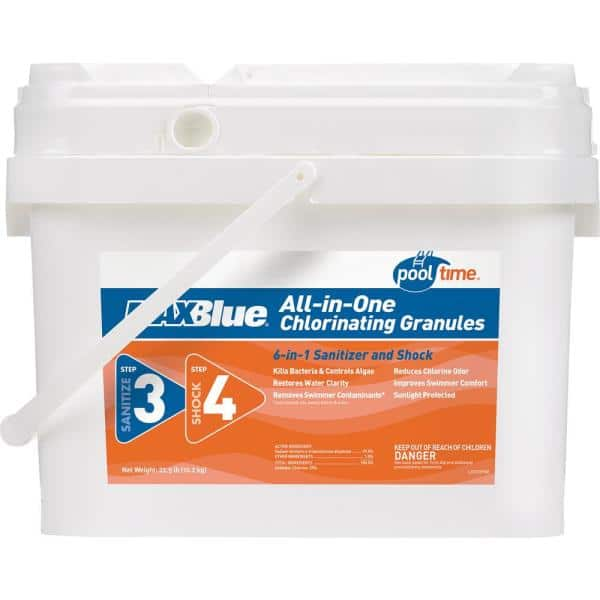 Pool Time Maxblue 22 5 Lb All In 1 Chlorinating Granules 22320ptm The Home Depot