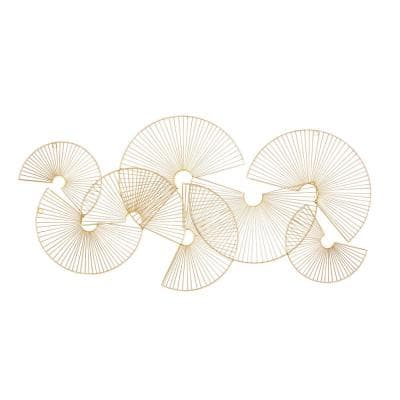 18 in. x 1 in. Gold Metal Contemporary Wall Decor