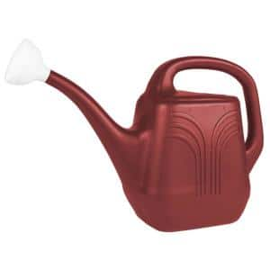 Classic 2 Gal. Burnt Red Plastic Watering Can