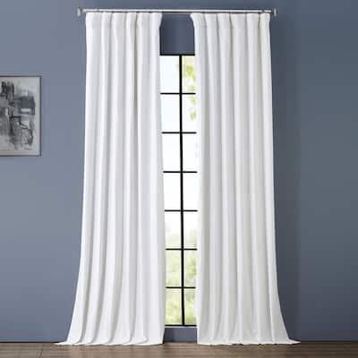 Whisper White Rod Pocket Sheer Curtain - 50 in. W x 120 in. L