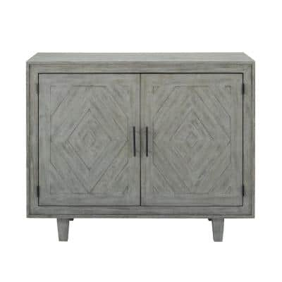 Whitford Distressed Gray Sideboard