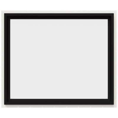 36 in. x 30 in. V-4500 Series Black FiniShield Vinyl Picture Window w/ Low-E 366 Glass