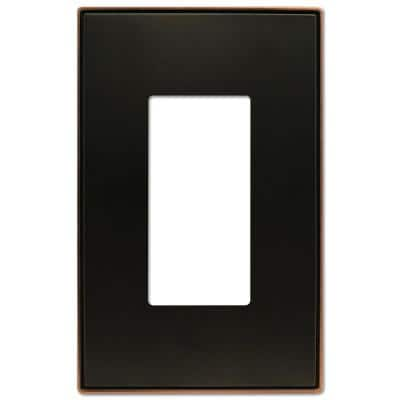 Ansley 1 Gang Rocker Metal Wall Plate - Aged Bronze