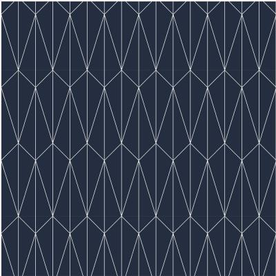 Navy & White Fabric Peel & Stick Washable Wallpaper Roll (Covers 36 Sq. Ft.)