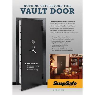 32 in. W x 80 in. H Vault Room Safe Door