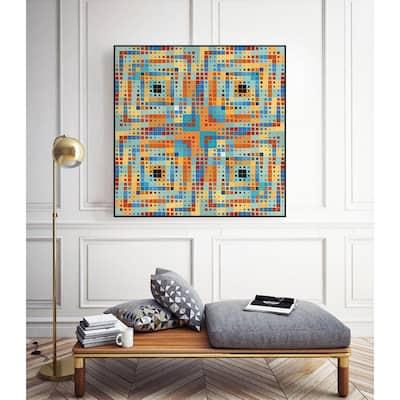 """Pi_dot_pi_4_1_1"" by Xos Salgado Framed Abstract Wall Art Print 30 in. x 30 in."