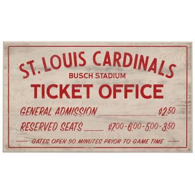 St. Louis Cardinals Vintage Ticket Office Wood Wall Decor
