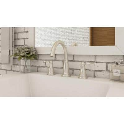 Porter 8 in. Widespread 2-Handle Bathroom Faucet in Brushed Nickel