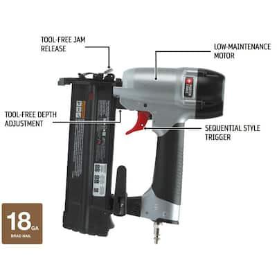 18-Gauge Pneumatic Brad Nailer Kit with 18-Gauge Brad Nail Project (900 per Box)
