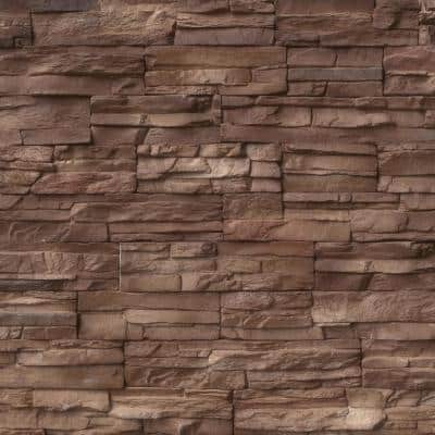 Terrado Bayside Earth Manufactured Stacked Stone Corner (4 sq. ft. / case)