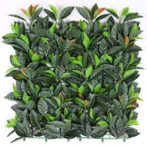 20 in. H x 20 in. W GorgeousHome Artificial Boxwood Hedge Greenery Panels,EuropeanLaurel (12-pc)