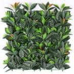 20 in. H x 20 in. W GorgeousHome Artificial Boxwood Hedge Greenery Panels (EuropeanLaurel_12-pc)