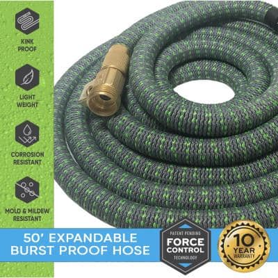 5/8 in. Dia. x 50 ft. Burst Proof Expandable Garden Water Hose
