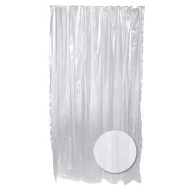 70 in. W x 72 in. H Vinyl Shower Curtain Liner in White