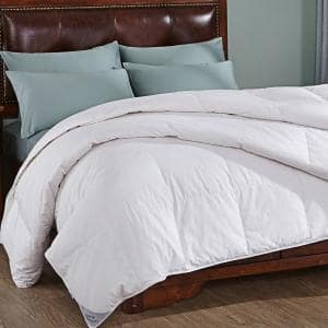 Luxurious Light Warmth White Full/Queen Down Comforter