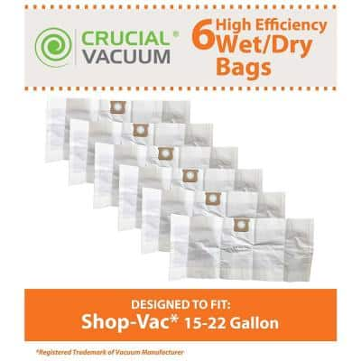 Type G Bags Replacement for Shop-Vac 15-22 Gal. Vacuums Parts 90663, 90663-00 (6-Pack)