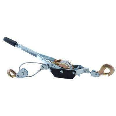 2-Ton Come-Along Cable Puller Hand Winch with Single or Double Line Hook Assembly