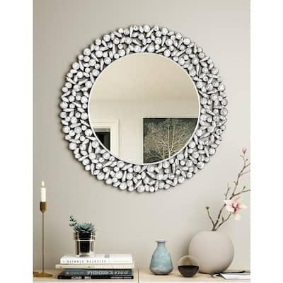 32 in. x 32 in. Round Modern Beveled Glass Decoration Mirror