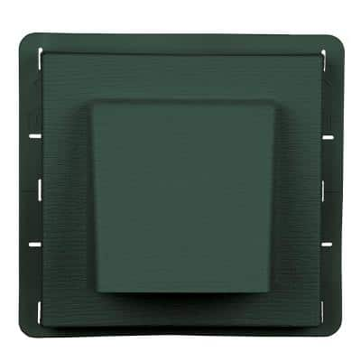 8 in. x 7.875 in Water Management 4 in. Hooded Vent in #028 Forest Green