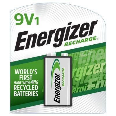 Recharge Universal 9 Volt Battery (1 Pack), Rechargeable 9V Battery