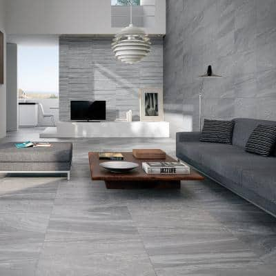 Sahara Grey 13 in. x 25 in. Glazed Porcelain Decorative Wall Tile (10.76 sq. ft. / Case)