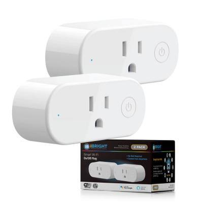Smart Home, Smart Wi-Fi Outlet Plug with 2 USB Ports (Works with Alexa and Google Assistant)