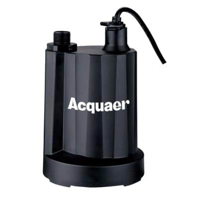 1/3 HP Submersible Plastic Utility Pump