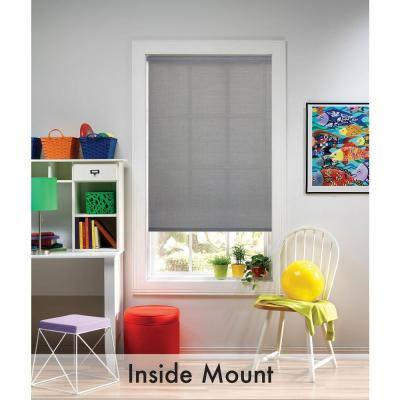Cut-to-Size Charcoal Cordless UV Blocking Fade resistant Roller Shades 29 in. W x 72 in. L