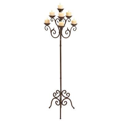 Brown Metal Traditional Candle Lantern