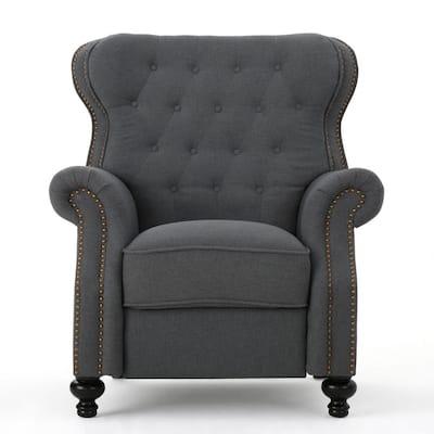 Walder Charcoal Tufted Upholstered Recliner