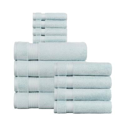 Egyptian Cotton 12-Piece Towel Set in Raindrop