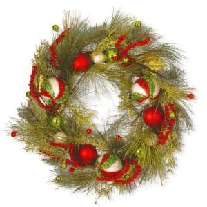30 in. Christmas Ball Artificial Wreath