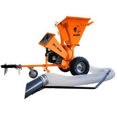 3 in. 7 HP Gas Powered Kohler Engine Direct Drive 3-in-1 Chipper Shredder Vacuum Mulcher Kit with Trailer Tow Hitch