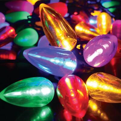 50-Light C9 Transparent Multicolor LED String Light Set