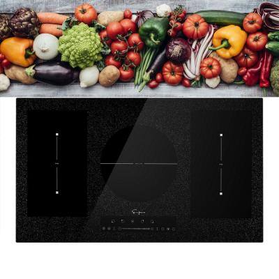 36 in. Electric Induction Built-in Modular Cooktop in Black with 5 Elements and Bridge Zone