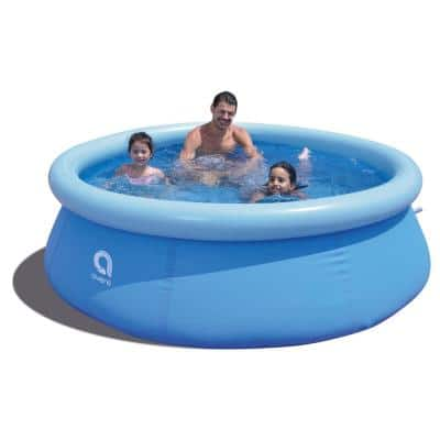 8 ft. Round 25 in. D Inflatable Pool Set
