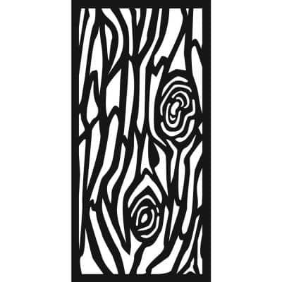 0.3 in. x 45.7 in. x 1.9 ft. Old Oak Recycled Plastic Charcoal Wall Art