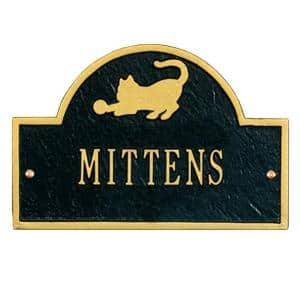 Pet Cat Mini Arch Black/Gold One Line Wall Marker