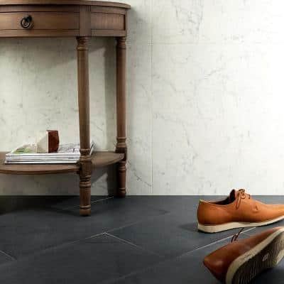Copley Nero 12 in. x 24 in. x 10mm Matte Stone Look Porcelain Floor and Wall Tile (6-piece / 11.62 sq. ft. / case)