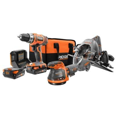 18V Lithium-Ion  Cordless 3-Tool Combo Kit with (2) 2.0 Ah Lithium-Ion Batteries, Charger, and Bag