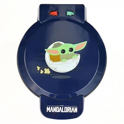 Mandalorian 600W Single Waffle Maker Blue Star Wars Belgian Waffle Iron