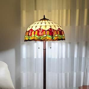 18 in. Tiffany Style Tulips Floor Lamp