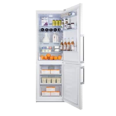 24 in. 11.35 cu. ft. Bottom Freezer Refrigerator in White, Counter Depth