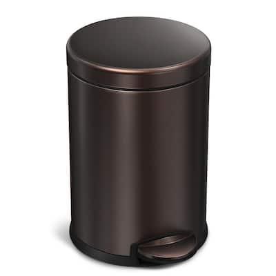 1.2 Gal. Dark Bronze Stainless Steel Round Step Trash Can