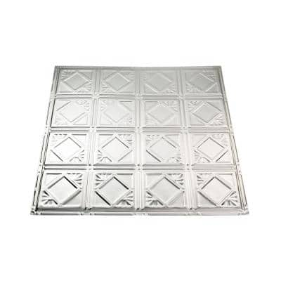 Ludington 2 ft. x 2 ft. Nail Up Metal Ceiling Tile in Unfinished (Case of 5)