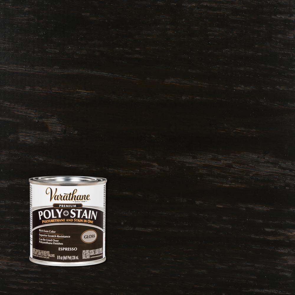 8 oz. Espresso Gloss Oil-Based Interior Stain and Polyurethane