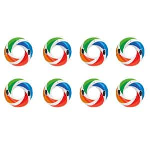 47 in. Inflatable Color Whirl Tube Swimming Pool Raft with Handles (8-Pack)
